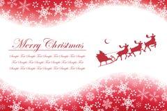 Weihnachtsschneeflocken und -weihnachtsmann Lizenzfreie Stockbilder