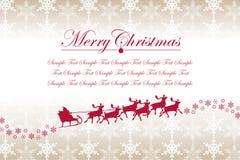 Weihnachtsschneeflocken und -weihnachtsmann Lizenzfreies Stockfoto