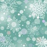 Weihnachtsschneeflocken-Vektorhintergrund Lizenzfreies Stockfoto