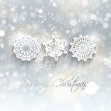 Weihnachtsschneeflockenhintergrund Lizenzfreie Stockbilder