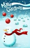 Weihnachtsschneehintergrund Lizenzfreies Stockfoto