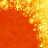 Weihnachtsschneehintergrund Stockfotos