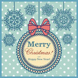 Weihnachtsschneekarte Lizenzfreie Stockfotos