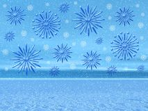 Weihnachtsschneelandschaft Stockbild