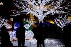 WeihnachtsSchneemänner Stockfoto