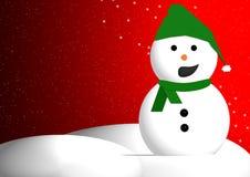 WeihnachtsSchneemann Lizenzfreie Abbildung