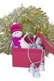 WeihnachtsSchneemann Lizenzfreie Stockbilder