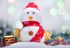 Weihnachtsschneemann Stockfotografie