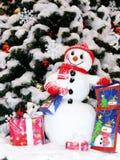 WeihnachtsSchneemann Stockbild