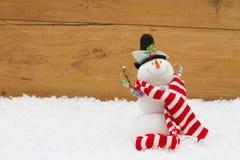 Weihnachtsschneemann mit Kopieraum Stockfoto