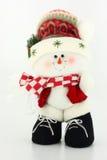 WeihnachtsSchneemann-Puppe Stockbild