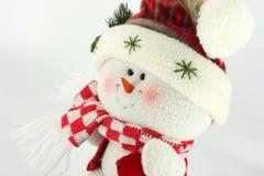 WeihnachtsSchneemann-Puppe Stockfoto