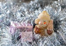 Weihnachtsschneemanndekoration Stockbild