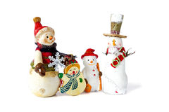 Weihnachtsschneemannfamilie Lizenzfreies Stockbild