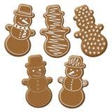 Weihnachtsschneemannlebkuchen Lizenzfreie Stockbilder