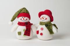 Weihnachtsschneemänner Lizenzfreies Stockbild