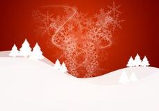 Weihnachtsschneeszene Lizenzfreie Stockfotografie