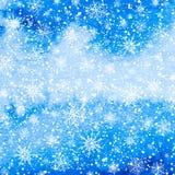 Weihnachtsschneewinter-Vektorhintergrund Stockbilder