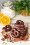 Weihnachtsschokoladenlebkuchen Lizenzfreie Stockfotografie