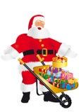 Weihnachtsschubkarre Stockbilder