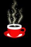 Weihnachtsschutzkappe des Kaffees Stockfotos