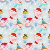 Weihnachtsschweinwaren-Weihnachtsmann-Hut auf Winter stock abbildung