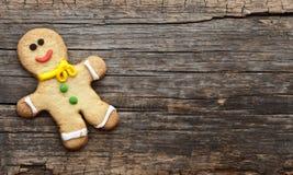 Weihnachtsselbst gemachte Lebkuchenplätzchen Lizenzfreie Stockbilder