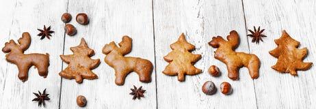 Weihnachtsselbst gemachte Plätzchen Stockfotografie