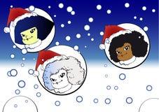 Weihnachtsserie - Kinder Stockfotografie