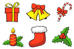 Weihnachtsset stockbilder