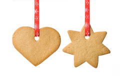 Weihnachtsshortbreadplätzchen lizenzfreies stockfoto