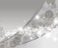 Weihnachtssilberner Hintergrund Stockfotografie