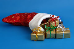 Weihnachtssocke Stockfoto