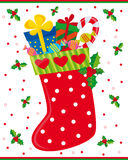 Weihnachtssocke Lizenzfreies Stockfoto