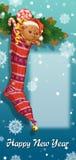 Weihnachtssocke mit Geschenken und Spielwaren lizenzfreie abbildung