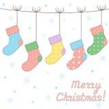 Weihnachtssocken Stockbild