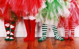 Weihnachtssocken Stockfoto