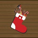 Weihnachtssocken mit Weihnachtsgeschenken nach innen vektor abbildung