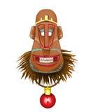 Weihnachtsspaß-Affemaske, ein Symbol des kommenden Jahres Lizenzfreies Stockbild