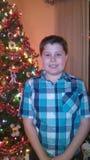Weihnachtsspaß an Großelternhaus 2014 Lizenzfreies Stockbild