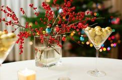 Weihnachtsspeisetisch Lizenzfreie Stockfotos