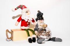 Weihnachtsspielwaren mit Verzierungen lizenzfreies stockbild