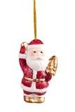 Weihnachtsspielwaren. Weihnachtsmann-Abschluss oben Stockfoto
