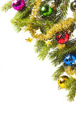 Weihnachtsspielzeug auf einer Niederlassung stockbild