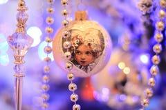 Weihnachtsspielzeug im Retrostil Stockfotos