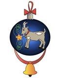 Weihnachtsspielzeug mit einer Ziege Lizenzfreie Stockfotografie
