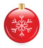 Weihnachtsspielzeug mit Schneeflocke Lizenzfreie Stockfotos