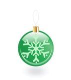 Weihnachtsspielzeug mit Schneeflocke Lizenzfreies Stockfoto