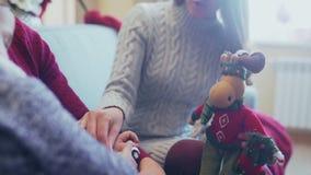 Weihnachtsspielzeug - Weihnachtsrotwild, Assistent Sankt, Ren Rudoflf stockfotografie