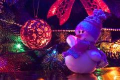 Weihnachtsspielzeugschneemann Lizenzfreies Stockbild